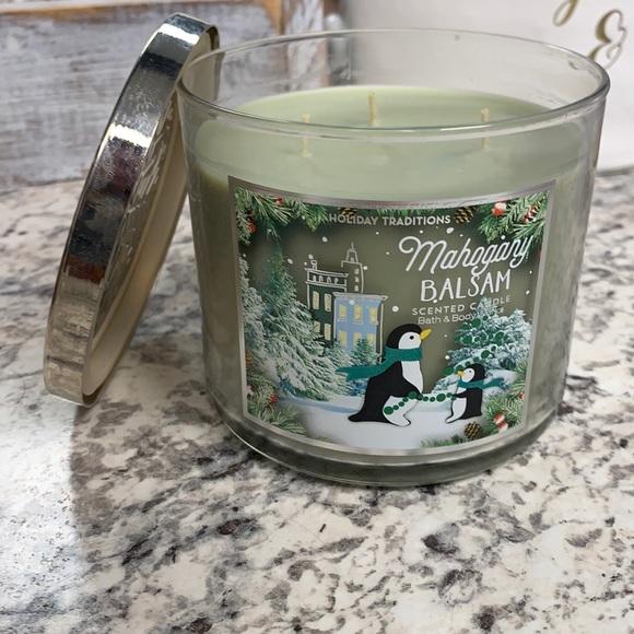 Mahogany Balsam 3 wick candle